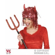 Halloweenaccessoires: Duivels glitterpruik