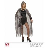 Halloweenkleding: Cape spinnenweb (136 cm)