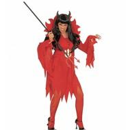 Halloweenkleding kostuum duivelin