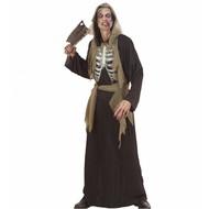 Halloweenkleding: Zombie met openliggend geraamte
