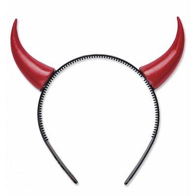 Duivel-hoorntjes zwart of rood voor Halloween