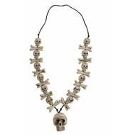 Carnavalsaccessoires: Halsketting botten en schedels