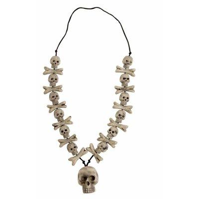 Halsketting botten en schedels voor Halloween