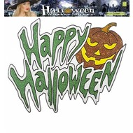 "Halloweenaccessoires: Raamsticker ""Happy Halloween"" (36 cm)"