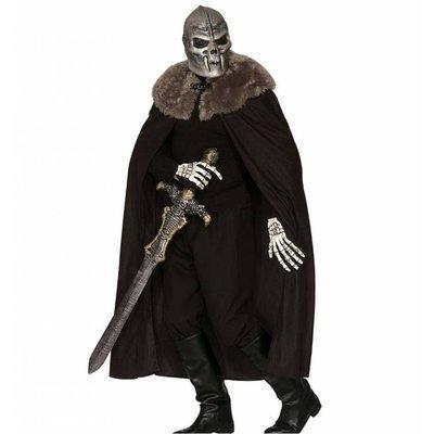 Halloweenkleding: Cape met kraag van bont