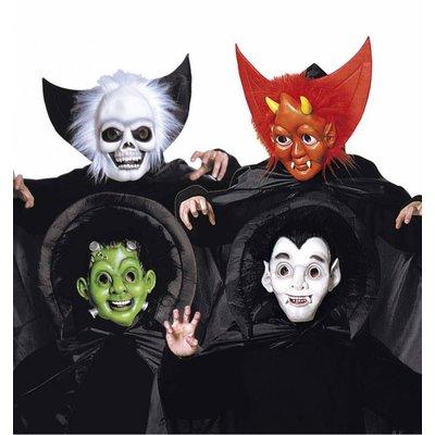Halloweenaccessoires halloweenmasker kind met cape en kraag