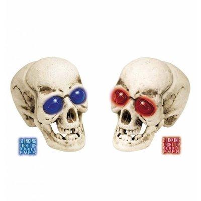 Halloweenaccessoires schedel bolle ogen met licht