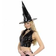 Halloweenaccessoires: Heksenhoed met spinnen