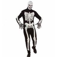 Halloweenkleding luxe skelet