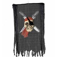 Halloweenartikelen banner piratenschedel met zwaard