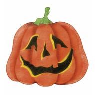 Halloweenaccessoires stoffen wanddecoratie pompoen