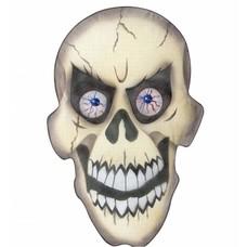 Halloweenaccessoires stoffen wanddecoratie schedel