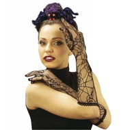 Halloweenaccessoires handschoenen spinneweb