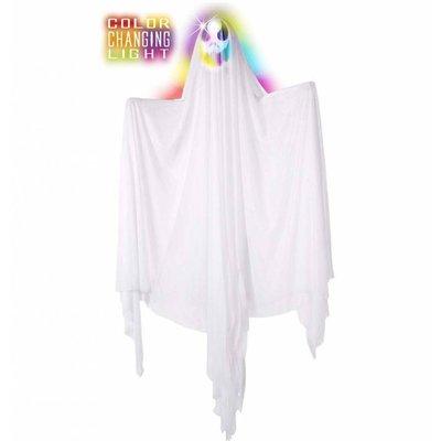 Halloweenartikelen geest met meerkleurig licht 170cm
