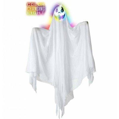 Halloweenartikelen geest met meerkleurig licht 90cm