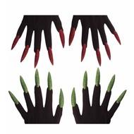 Halloweenaccessoires: Heksen handschoenen