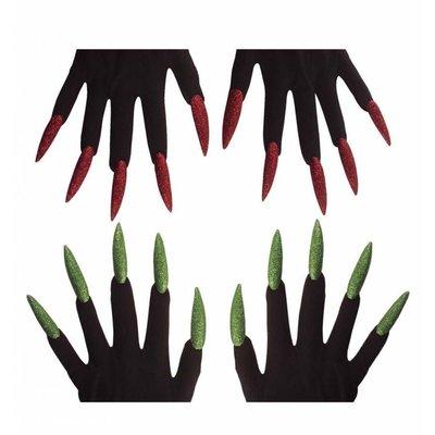 Heksen handschoenen met langer nagels