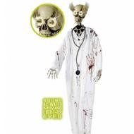 Halloweenartikelen bloederige dokter met bewegende ogen