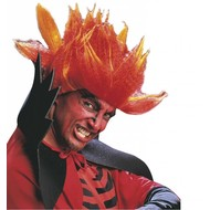 Halloweenartikel pruik Diablo