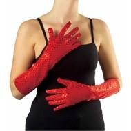 Halloweenaccessoires pailletten handschoenen