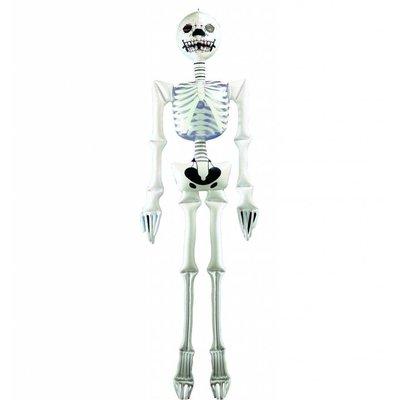 Halloweenartikelen opblaasbaar skelet 183cm