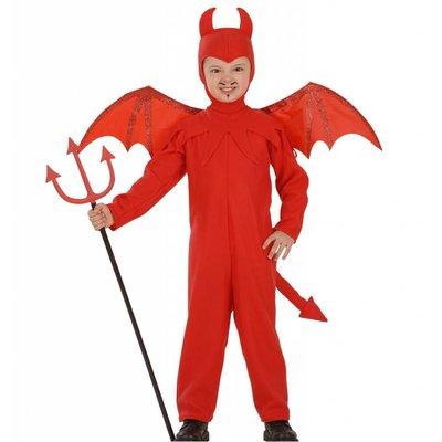 Halloweenkleding duivelspakje met vleugels