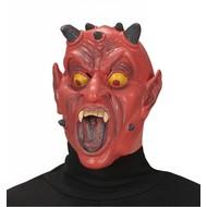 Halloweenaccessoires halfgezichtmasker duivel