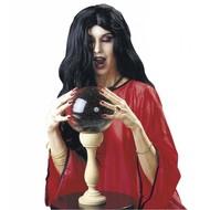Halloweenaccessoires pruik heks Amelia zwart