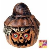 Halloweenaccessoires pompoenvogelverschrikker met licht