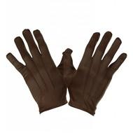 Halloweenaccessoires handschoenen bruin