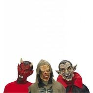 Halloweenaccessoires kindermasker horror duivel/vampier/zombie