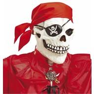 Halloweenaccessoires schedelmasker piraat