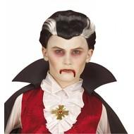 Halloweenaccessoires pruik vampier kind