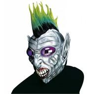 Halloweenaccessoires masker boze geest met bolle ogen en kam
