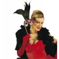 Halloweenaccessoires fluwelen handschoenen rood 56cm