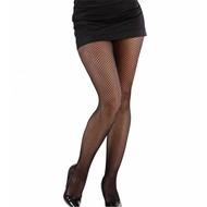 Halloweenaccessoires: Visnet panty zwart