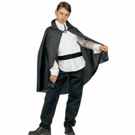Halloweenkleding: Zwarte cape (kind)