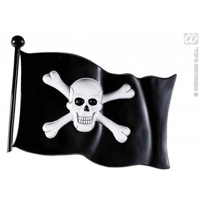 Halloweenartikelen decoratie piratenvlag 45x32cm