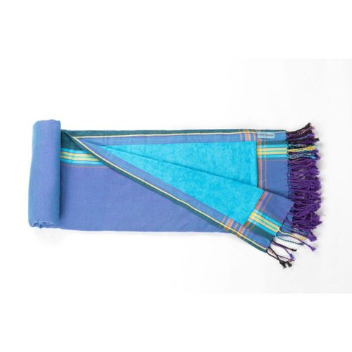 PURE Kenya kikoy strandlaken stone blue jeans