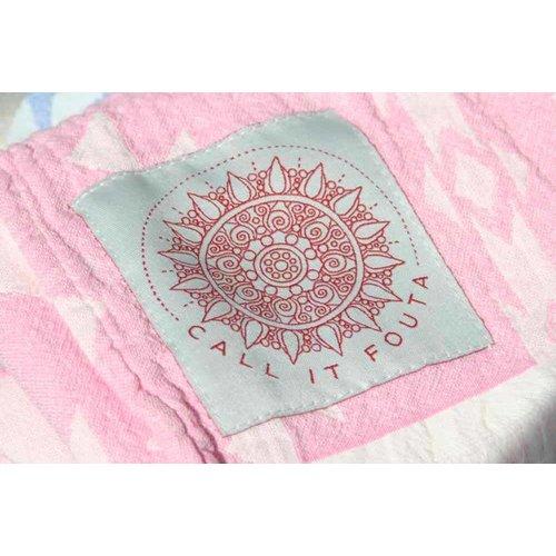 Call it Fouta! hamamdoek Kelim soft pink