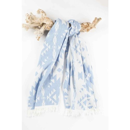 Call it Fouta! hamamdoek Kelim blue