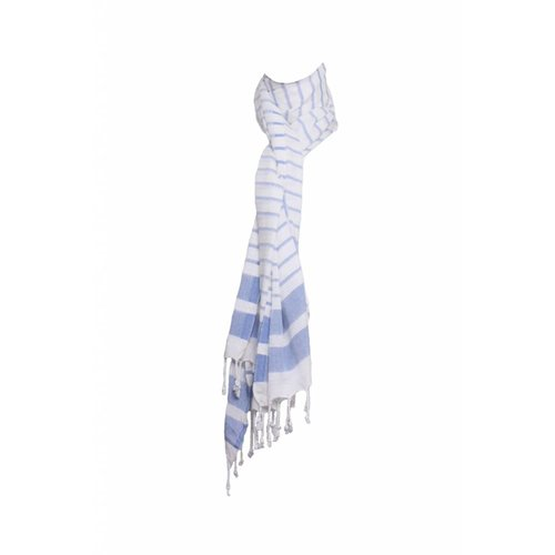 Hamams own hamamdoek Aquastreeps blue 190x90cm