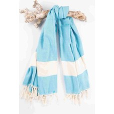 Call it Fouta! hamamdoek Herringbone turquoise blue