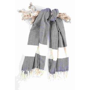 Call it Fouta! hamamdoek Herringbone dark navy