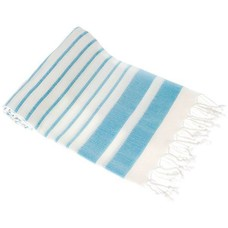 Hamams own hamamdoek Aquastreeps light blue