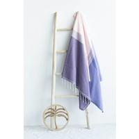fouta Splash pink purple mauve