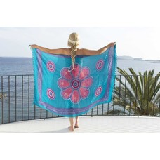 Call it Fouta! Pareo Flower dark turquoise