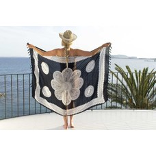 Call it Fouta! Pareo Flower black white