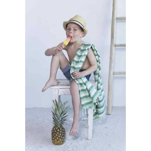 Call it Fouta! kids hamamdoek multi light green