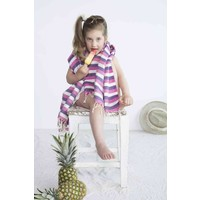 kids hamamdoek multi purple pink